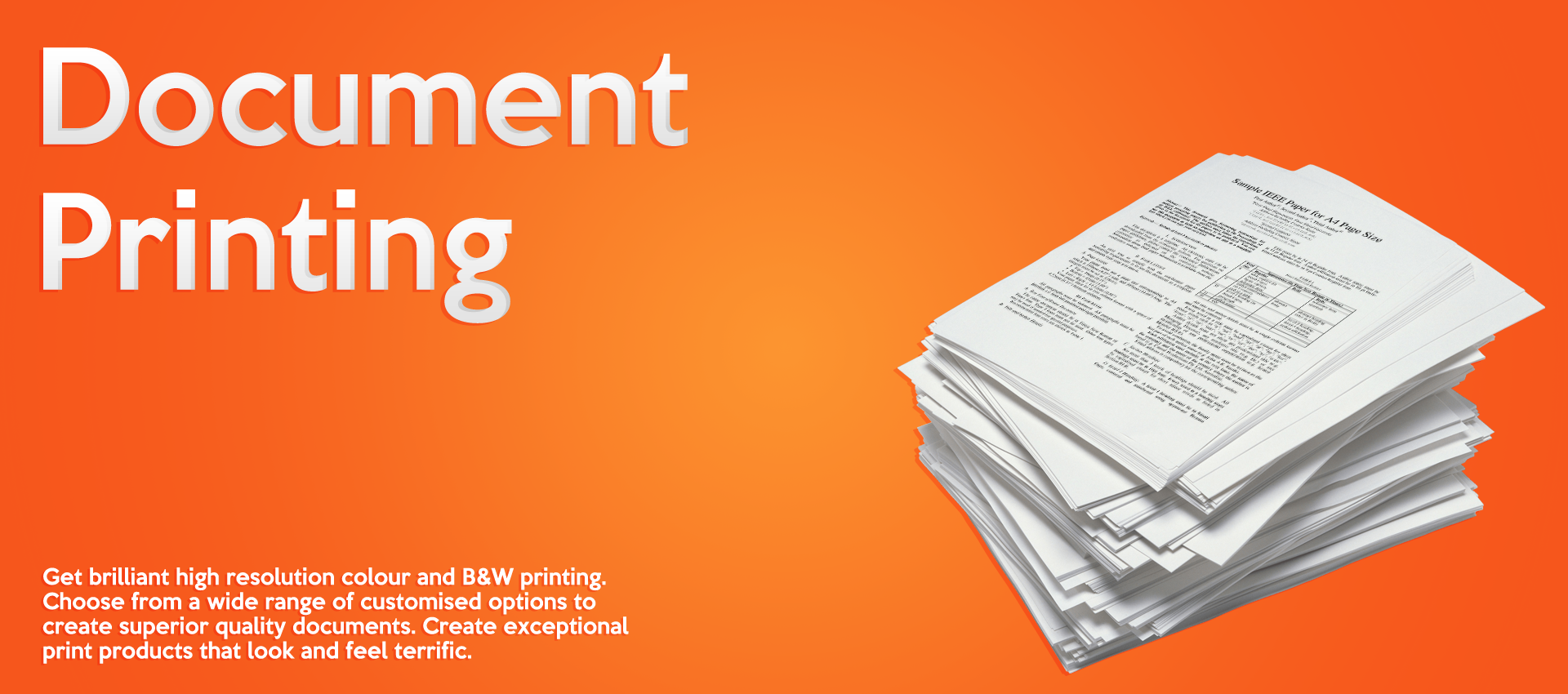 Document Printing Banner