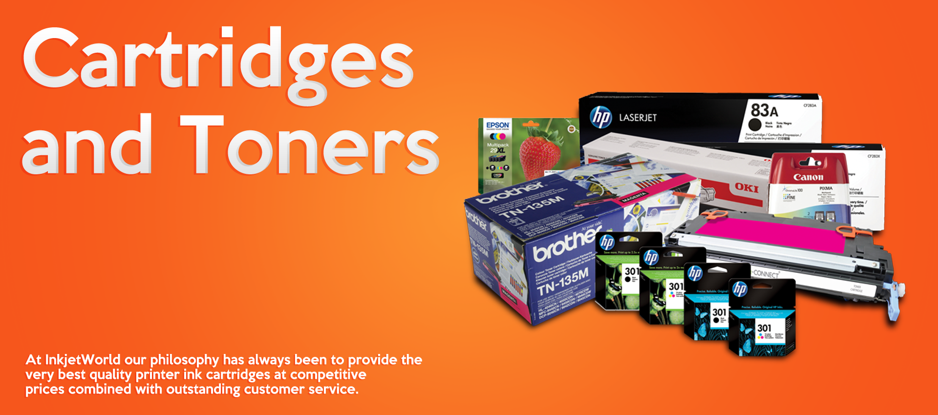 Cartridges and Toners Banner
