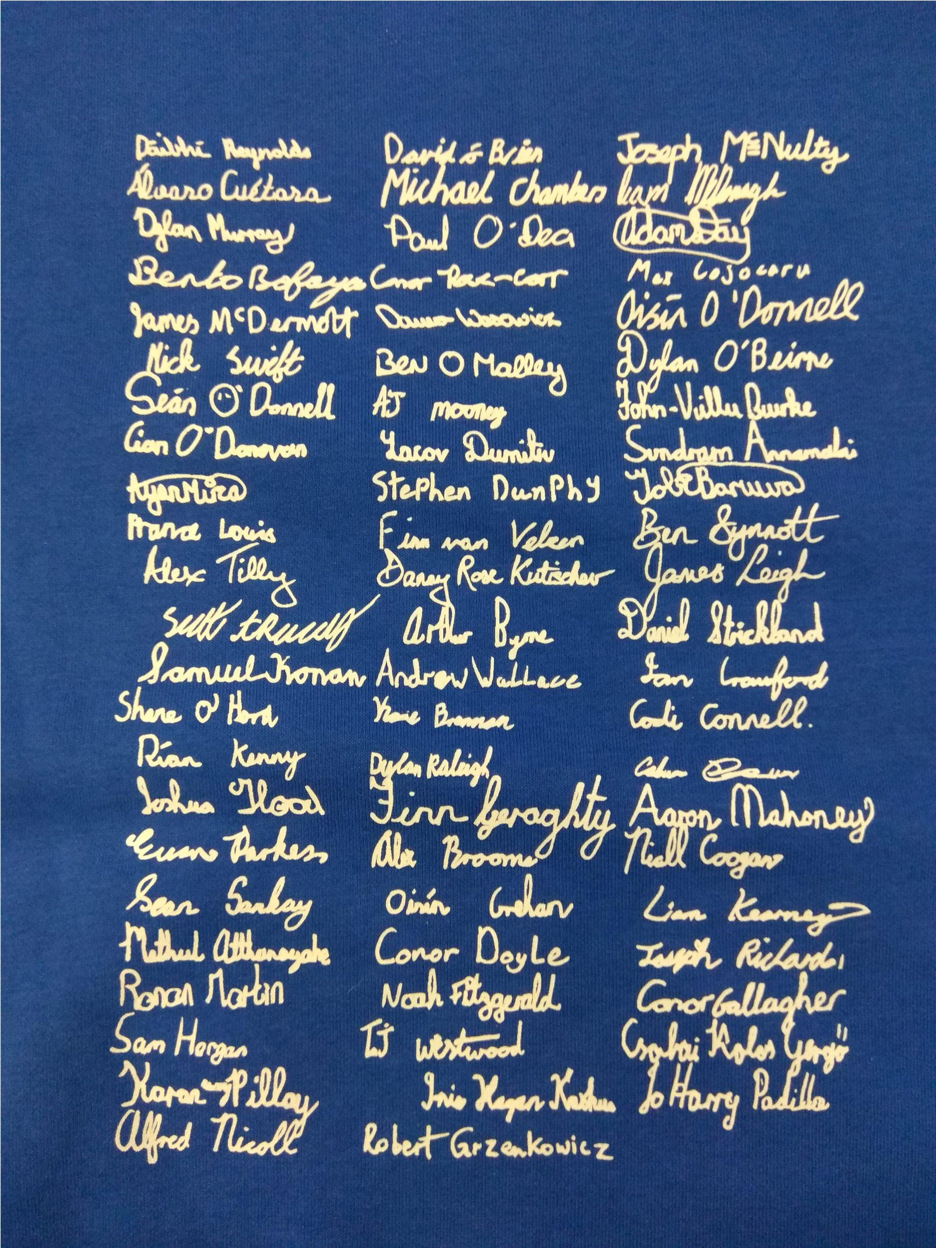 Class Hoody Name List Upright
